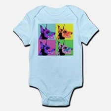 Doberman Pop Art Onesie