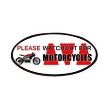 Please Watchout for Motorcycles Patches