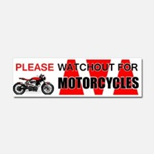 Please Watchout for Motorcycles Car Magnet 10 x 3