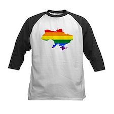 Rainbow Pride Flag Ukraine Map Tee