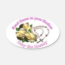 Cute Rosary Oval Car Magnet