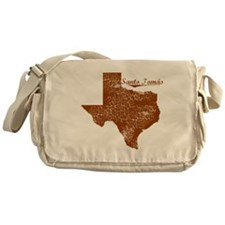 Santo Tom�¡s, Texas. Vintage Messenger Bag