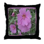 Fe's Pink Malva Throw Pillow