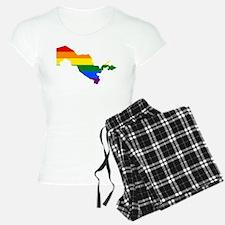 Rainbow Pride Flag Uzbekistan Map Pajamas
