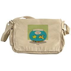 Fishbowl Pickup Lines Cartoon Messenger Bag
