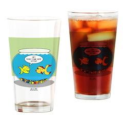 Fishbowl Pickup Lines Cartoon Drinking Glass