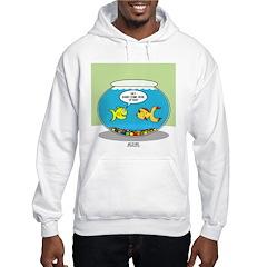 Fishbowl Pickup Lines Cartoon Hooded Sweatshirt