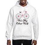 He's My Other Half Love Bike Hooded Sweatshirt