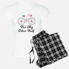 He's My Other Half Love Bike Pajamas