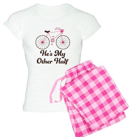 He's My Other Half Love Bike Women's Light Pajamas