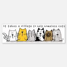 Takes A Village Help Cats Sticker (Bumper 10 pk)