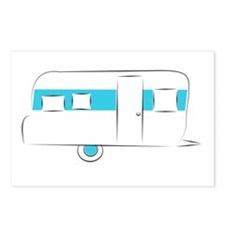 vintage camper Postcards (Package of 8)