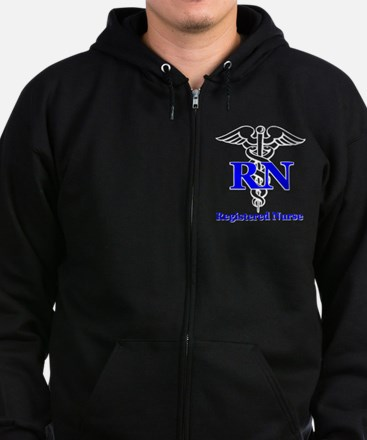 Bachelors of Nursing Zip Hoodie (dark)