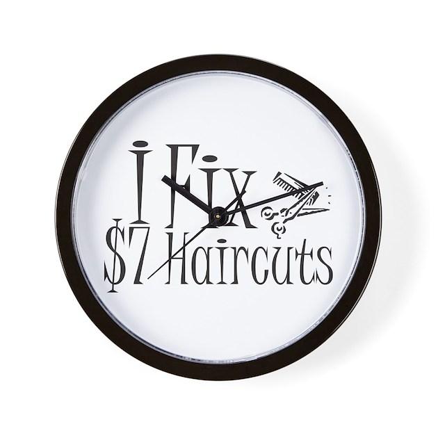 I Fix $7 Haircuts Wall Clock by gillentine