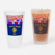 oregonromneyflag.png Drinking Glass