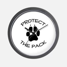 Protect the Pack! Wall Clock