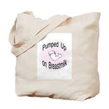Mouse Made Pumped up on Breastmilk pink Tote Bag