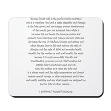 Mouse Made Breastfeeding Advocacy lg Mousepad