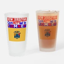 newjerseyromneyflag.png Drinking Glass