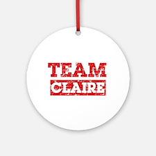 Team Claire Ornament (Round)