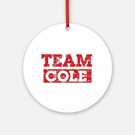 Team Cole Ornament (Round)