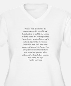 Mouse Made Cloth Diaper Text large T-Shirt