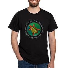 Hawaiian Island Art Black T-Shirt
