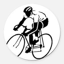 Bike Rights 4 Round Car Magnet
