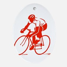 Bike Rights 3 Ornament (Oval)