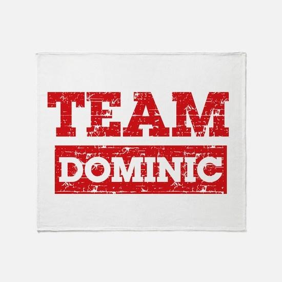 Team Dominic Throw Blanket