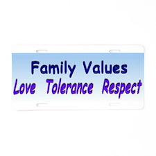 family values xl.jpg Aluminum License Plate