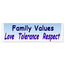 family values xl.jpg Bumper Sticker