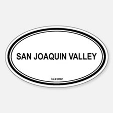 San Joaquin Valley oval Oval Decal