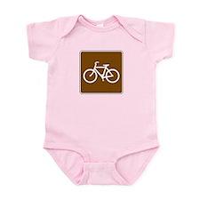 Bike Trail Sign Infant Bodysuit