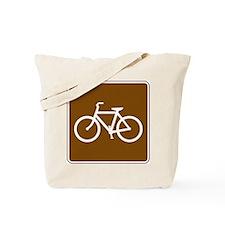Bike Sign Tote Bag