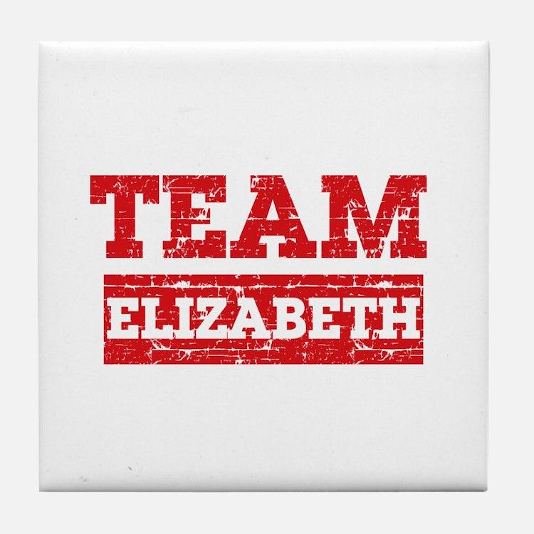 Team Elizabeth Tile Coaster