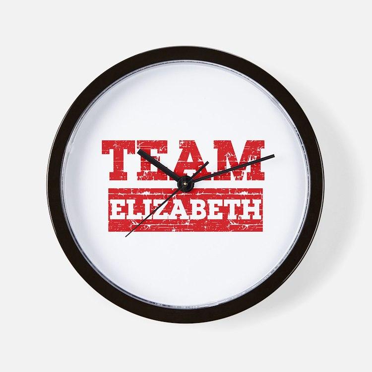 Team Elizabeth Wall Clock