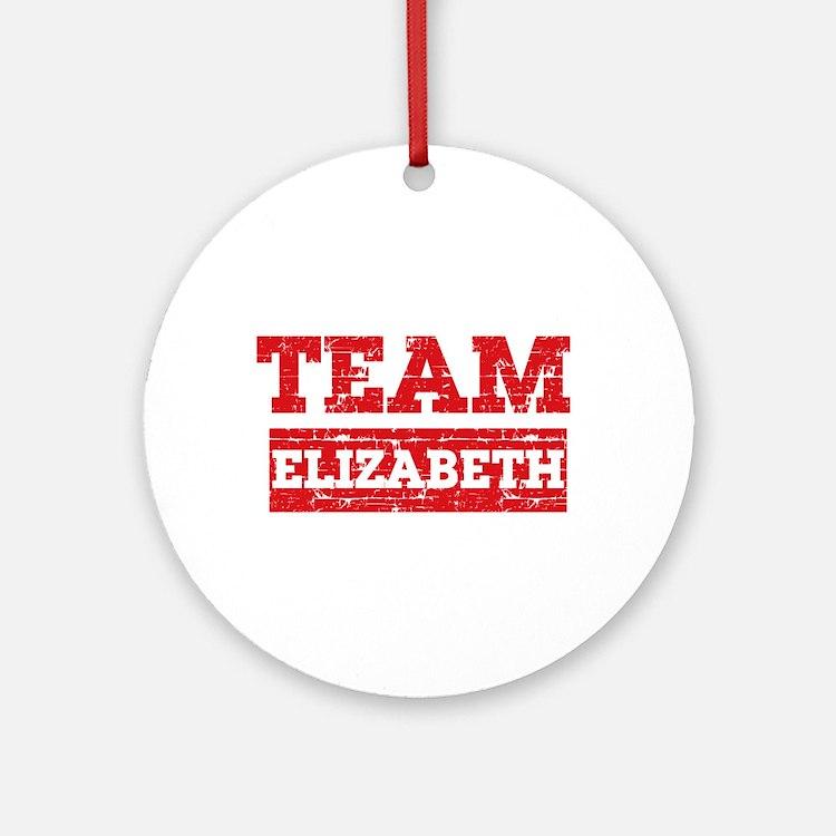 Team Elizabeth Ornament (Round)