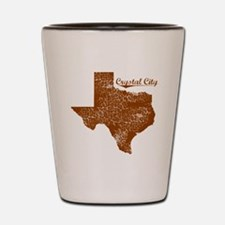 Crystal City, Texas (Search Any City!) Shot Glass