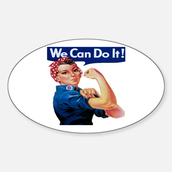 Rosie the Riveter Sticker (Oval)