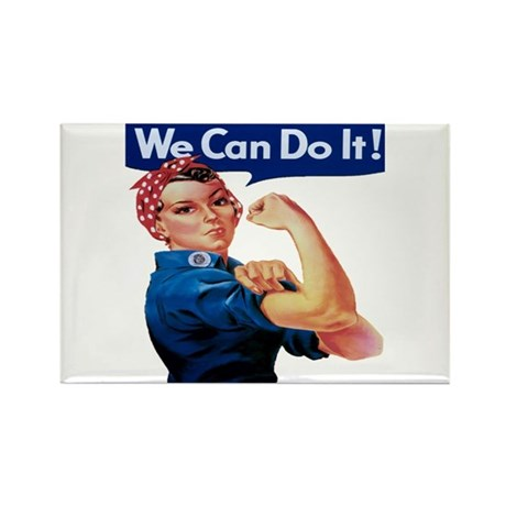 Rosie the Riveter Rectangle Magnet (10 pack)