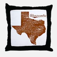 Abercrombie, Texas (Search Any City!) Throw Pillow
