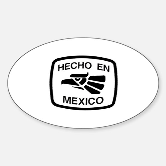 Hecho En Mexico - Made In Mex Oval Decal