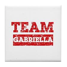 Team Gabriella Tile Coaster