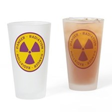 Radiation Warning Symbol Drinking Glass