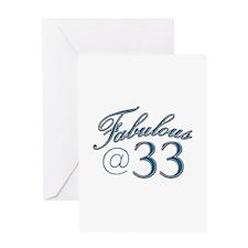 Fabulous at 33 Greeting Card