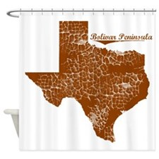 Bolivar Peninsula, Texas. Vintage Shower Curtain
