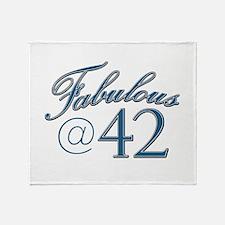 Fabulous at 42 Throw Blanket