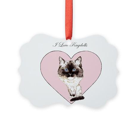 I Love Ragdolls Picture Ornament