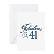 Fabulous at 41 Greeting Card